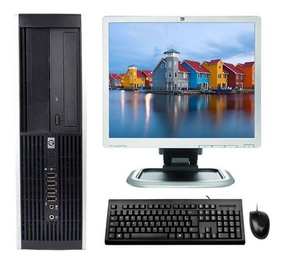 Computador Hp Core 2 Duo E8400 6gb Ssd 120gb + Monitor 17