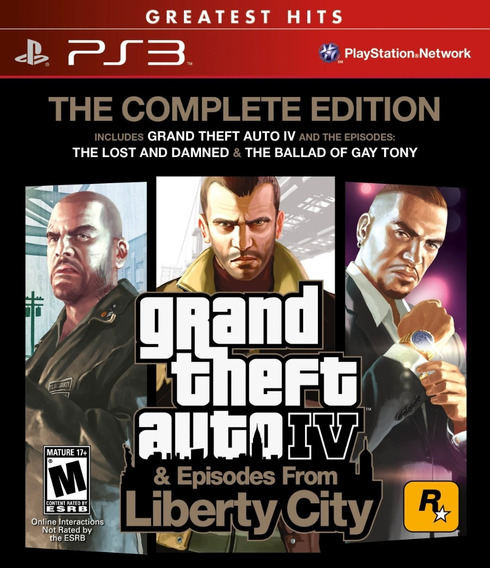 Jogo Gta Iv 4 + Episodes From Liberty City Ps3 3 Jogos Full