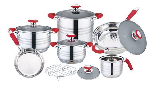 Imagen 1 de 2 de Bateria De Cocina De 12 Piezas, Swiss Silver
