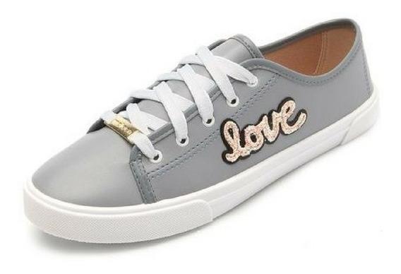 Tênis Love Moleca Feminino | Branco | Preto | Azul | 5296