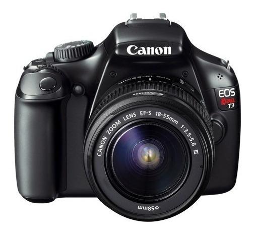Camera Canon T3 Lente 18-55 Carregador De Bateria