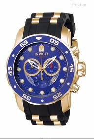 Relógio Invicta Pro Driver (original) 6983 Banhado A Ouro 18