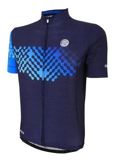 Camisa Ciclismo Mauro Ribeiro Masculina Even Azul Bike