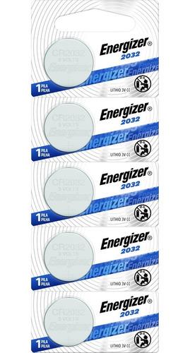 Imagen 1 de 6 de Pack 5 Pilas Litio Energizer Cr 2032 Baterias Troqueladas