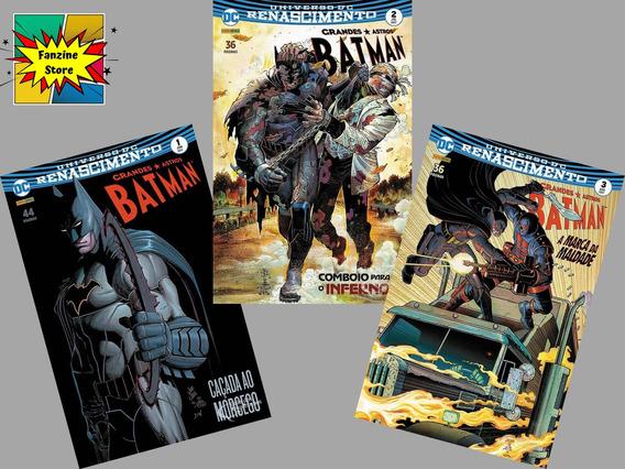 Kit Hq Gibi Grandes Astros Batman Dc Renascimento 1, 2 E 3