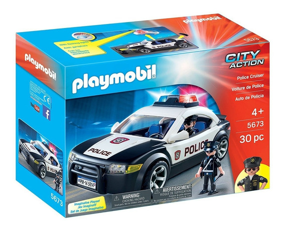 Playmobil 5673 Auto De Policia Con Luz Original Intek