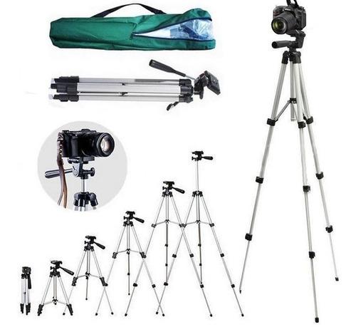 Imagem 1 de 7 de Tripe 1,30 M Universal P/ Sony Canon Nikon Filmadora + Nf