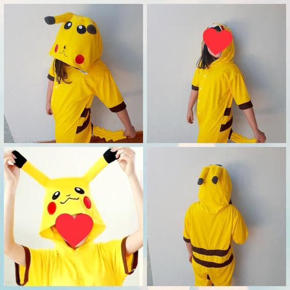 Pijama Pikachu - Kigurumi - Cosplay - Fantasia De Malha