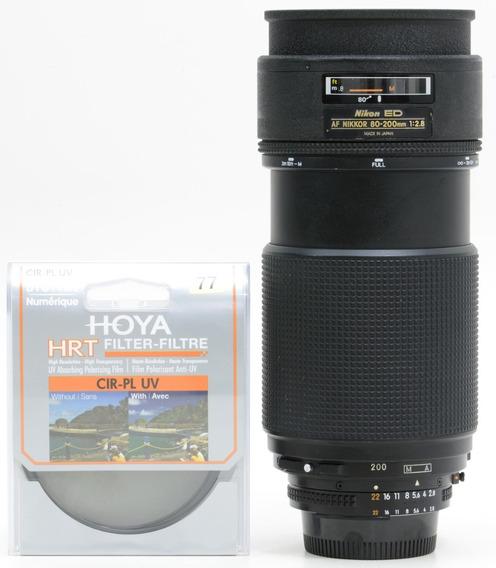 Objetiva Nikon 80-200mm 2.8 Af Ed Perfeita + 2 Filtros