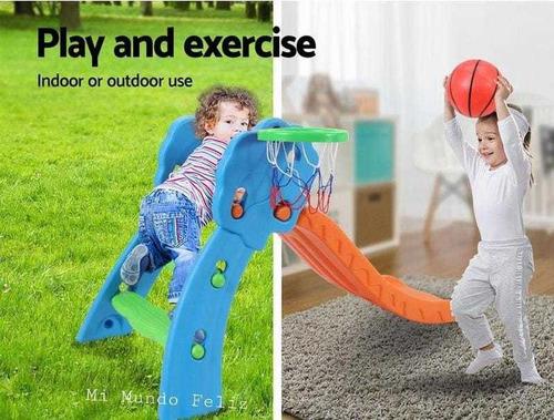 Imagen 1 de 2 de Resbaladera Tobogan Resbalin Para Niños Niñas Con Aro Basket