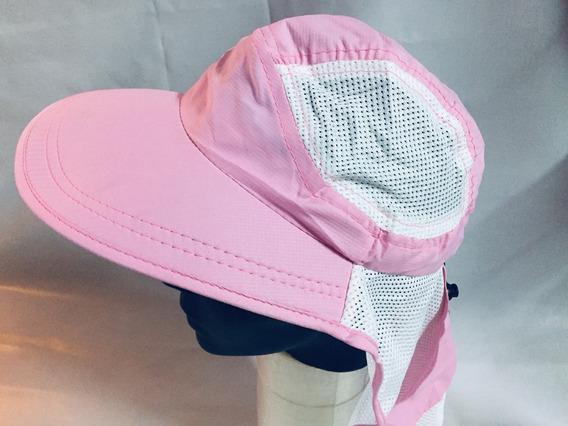 Gorra Con Gran Visera 9 Cm Color Rosa Dama, Playa, Outdoor