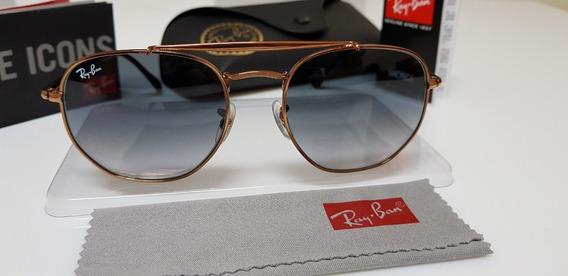Óculos Sol Ray-ban Marshal Rb3648 Cobre Lentes Cinza Degradê