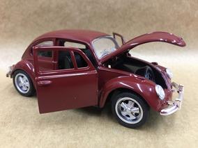 Miniatura Fusca 1967 Cor Marrom Rodas Esportiva