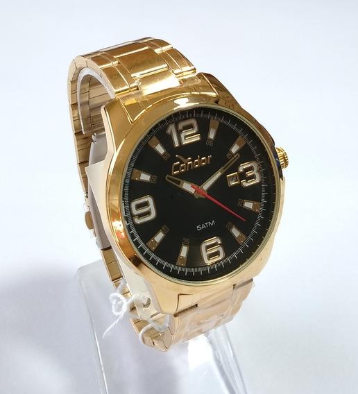 Relógio Dourado Masculino Condor Original Co2115ktj/4c.