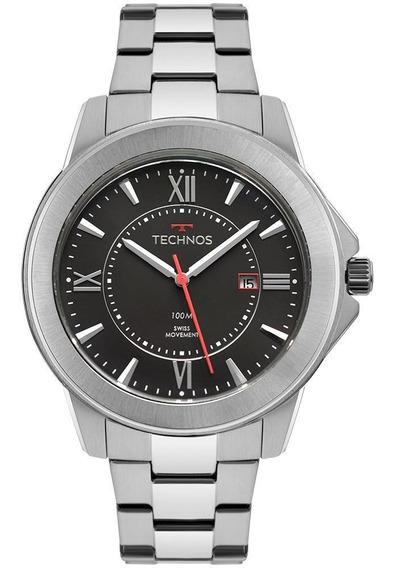 Relógio Masculino Technos F06111ab/1p Mecanismo Suíço