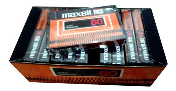 Fita Cassete Maxell Ln 60 (ultra Low-noise) Caixa C/ 12 Unid