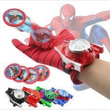Guante Lanza Dispara Tazos De Spider Man Juego Juguete