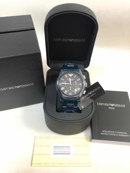 Relógio Emporio Armani Ar1469 Cerâmica Com Caixa E Garantia