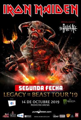 Entrada Iron Maiden Cancha 14 De Octubre Movistar
