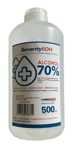 Alcohol Etilico Al 70% Antiséptico 500ml Seventy 50h