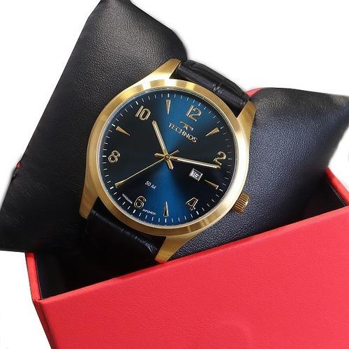 Relógio Technos Masculino Dourado/preto Analógico