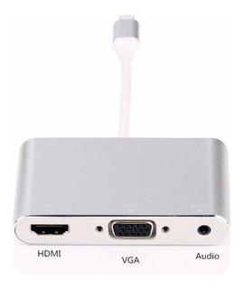 Adaptador Hdmi Vga iPad Mini iPhone iPod Touch Apple Hd Gb