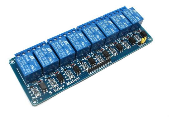 Módulo Relé 8 Canais 5v 220v/110v 10a Isolado Para Arduino