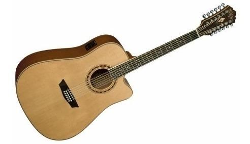 Guitarra Electroacustica Washburn Wd10sce 12 Cuerdas