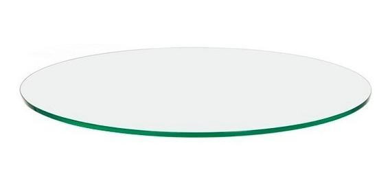 Tampo Mesa Vidro Incolor Temperado 8mm 50cm Redondo