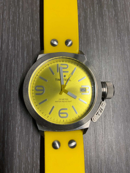 Reloj Tw Steel Canteen 45 Mm Tw520 Amarillo