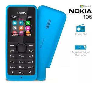 Celular Nokia 105 Rm-1134 Azul Rádio Fm Lanterna Led Leia!!!