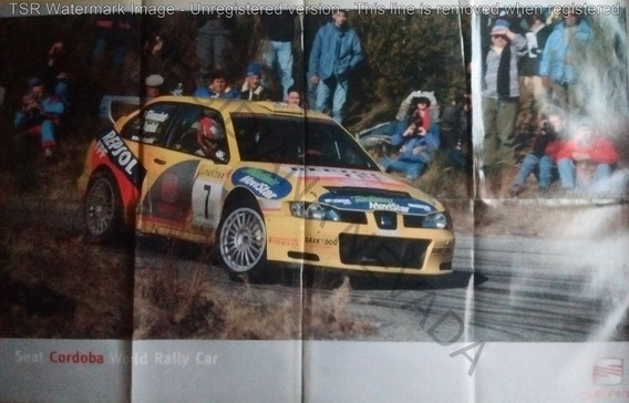 Gran Lámina Póster Seat Cordoba World Rally Car Año 2000
