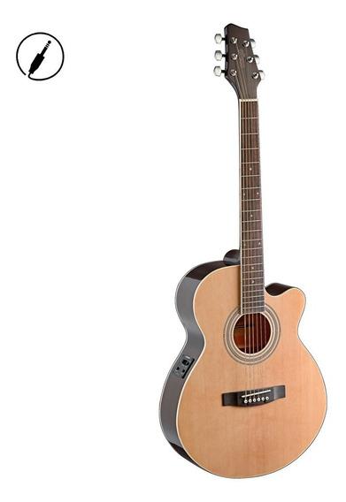 Guitarra Electroacústica Stagg Sa40mjcfin + Envio