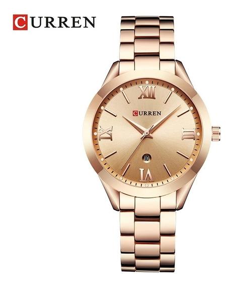 Relógio Feminino Rosé Curren Luxo R