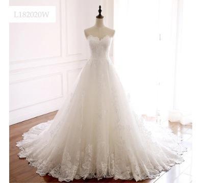 Vestido De Noiva Bordado Chic Em 12 X Sem Juros!!