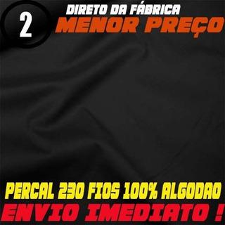 Tecido Percal 230 Fios 100% Algodão 3 Metro- P/lencol Preto