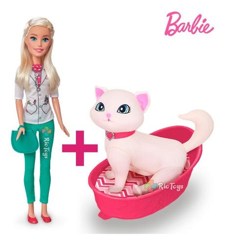 Barbie Veterinária Cuidados Gatinha Blissa Brincar Barato