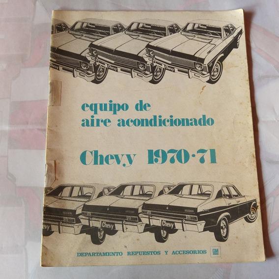 Folleto Chevy 1970 1971 Equipo De Aire Acondicionado
