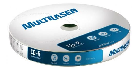 Mídia Multilaser Cd-r Vel. 52x 10un Shrink Cd027