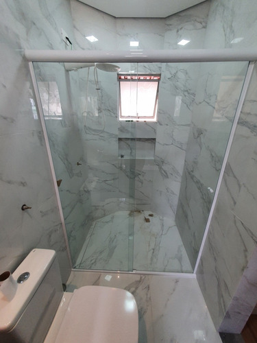 Box De Vidro P/banheiro Cristal Incolor8mm Temperado Blindex
