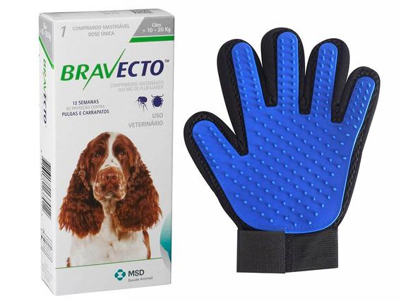 Antipulgas Bravecto Cães 10 A 20kg + Brinde Luva
