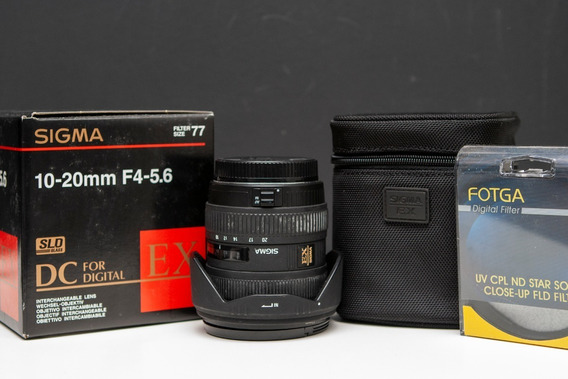 Lente Grande Angular Sigma 10-20mm F4-5.6 + Filtro Uv Canon