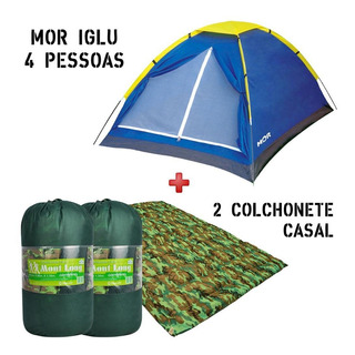 Barraca Mor Iglu 4 Pessoas + 2 Colchonete Casal