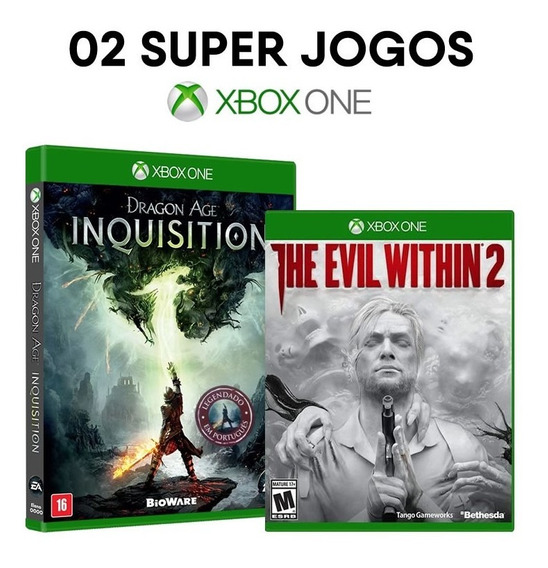 Dragon Age Inquisit. + The Evil Within 2 Xbox One [ Novos ]