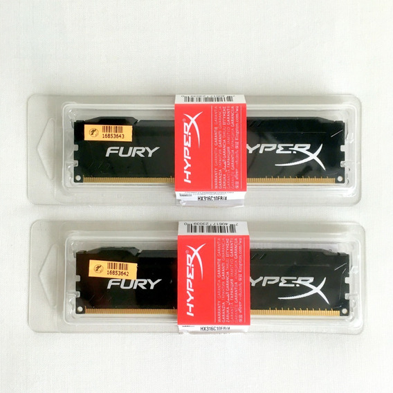 Kit Kingston Hyperx Fury 8gb (2x 4gb) Memória Ddr3 1600mhz