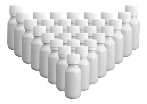 Imagen 1 de 2 de 30 Pack Botella Plástico 40 Ml Blanco C/tapa