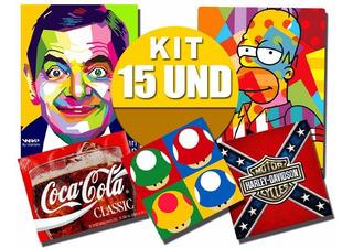 Kit 15 Und Placas Decorativas Retrô, Vintage, Pop + Variados