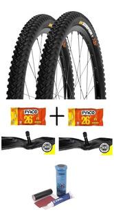 Par Pneu Pirelli Scorpion Mb2 26x2.0+ 2 Câmaras+ Kit Remendo