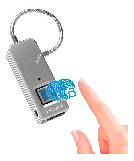 Cadeado Digital Biométrico Globaltools Gt014 Carga Usb