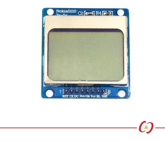 Display Lcd Gráfico Nokia 5110 84x84 Px Backlight Azul